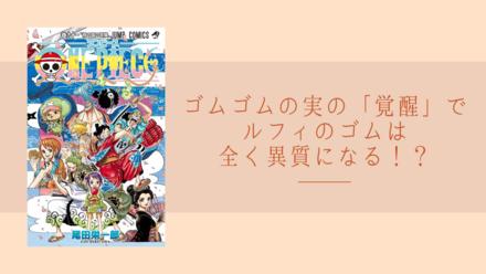 【ワンピース】ゴムゴムの実の「覚醒」は、他の能力者と全く違う!?