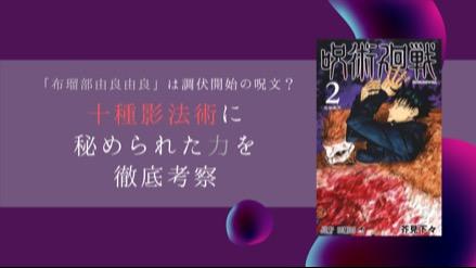 『呪術廻戦』伏黒の「十種影法術」の模様から、隠された力を考察!宿儺の狙いは……!画像