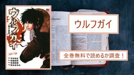 【ウルフガイ】全巻無料で最終巻まで読めるか調査!アプリや漫画バンクでは?画像